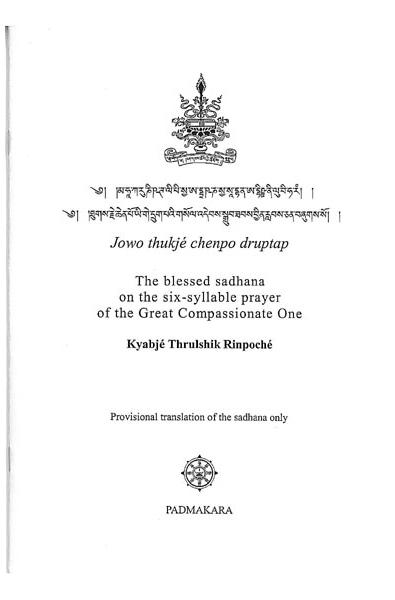 Blessed sadhana