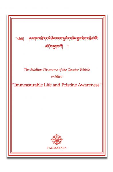 Immeasurable Life and Pristine Awar