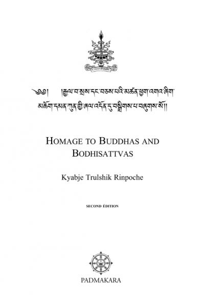 Homage to the Buddhas and Bodhisattvas PDF